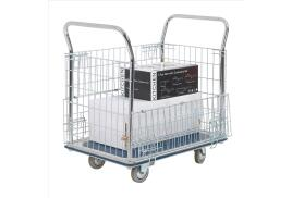 Unbranded Steel Platform Truck with Chrome Plated Mesh Panels 300kg Capacity