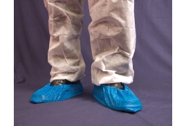 Unbranded Click Once Disposable Overshoe Waterproof Elasticated (Blue)