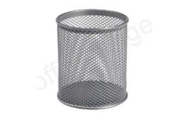 5 Star Office Pencil Holder Wire Mesh (Silver)