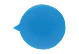 Unbranded Security Seals Plain Round (Blue) Pack of 500