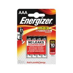 Energizer Max (AAA) Alkaline Batteries (Pack of 4 Batteries) Image