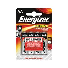 Energizer Max (AA) Alkaline Batteries (Pack of 4 Batteries) Image