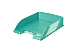 Leitz WOW Polystyrene Letter Tray (Ice Blue)