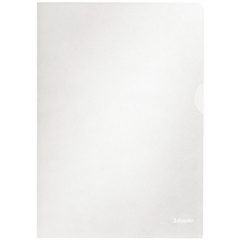 Esselte (A4) Quality Plastic Folder Copy-safe (Clear) Pack of 100 Image