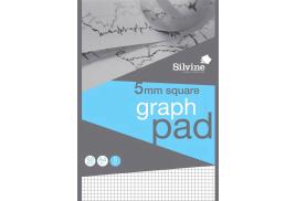 Silvine (A4) Student Graph Pad 90gsm 5mm Quadrille White 50 Sheets (Pack of 10)