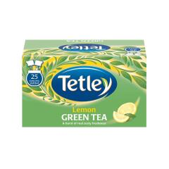Tetley Green Tea with Lemon Tea Bags Individually Wrapped (Pack of 25) Image