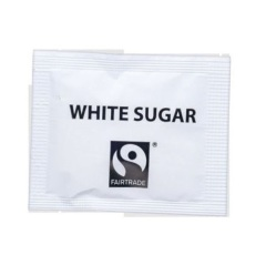 Fairtrade White Sugar Sachets (Pack of 1000 Sugar Sachets) Image
