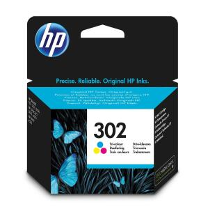 HP 302 (Yield: 165 Pages) Cyan/Magenta/Yellow Ink Cartridge