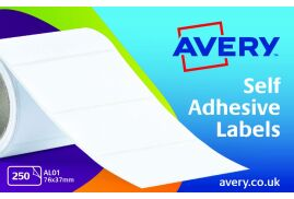 Avery AL01 Typewriter Address Labels (76 x 37mm) on Roll ?(Pack of 250 Labels)