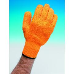 Unbranded Knitted Grip Gloves [pair] High Grip Pvc Lattice One Size VBLCG1 Image