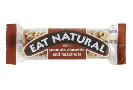 Eat Natural Energy Bar Made From Peanuts Hazelnuts And Almonds 50g (Pack 12)