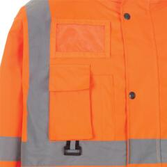 Unbranded High Visibility Breathable Jacket (XL) Multifunctional (Orange) Image
