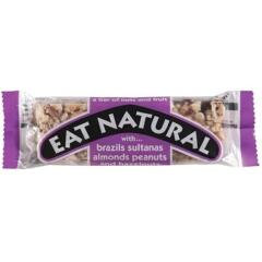 Eat Natural Energy Bar Made From Brazil Nuts Sultanas Almonds Apricots Peanuts and Hazelnuts 50g (Pack 12) Image