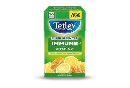 Tetley Super Green Tea IMMUNE Lemon Honey with Vitamin C (Pack of 20)