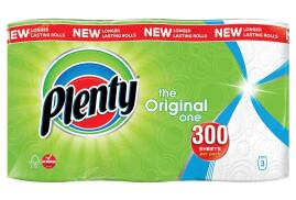 Plenty The Original One Double Kitchen Roll (Pack of 3)