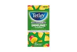 Tetley Super Green Tea Immune Tropical Tea Bags (Pack of 25)