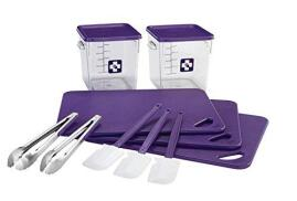 Rubbermaid Food Service Kit 12 Piece Colour-coded (Purple)