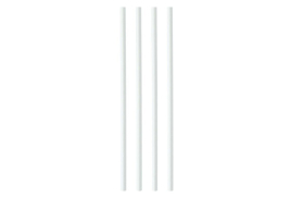 Unbranded Paper Straws (8mmx200mm) White (1 x Pack of 250)