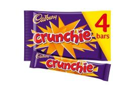 Cadbury Crunchie (32g) Chocolate Bar (Pack of 4 Bars)