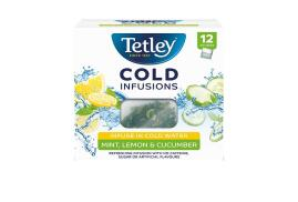 Tetley Cold Infusions Mint, Lemon and Cucumber Tea (Pack of 12 Infusers)