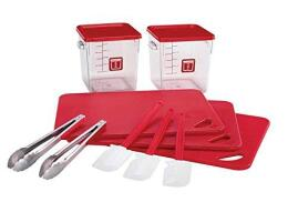 Rubbermaid Food Service Kit 12 Piece Colour-coded (Red)