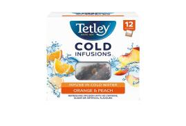 Tetley Cold Infusions Orange and Peach Tea (Pack of 12 Infusers)