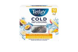 Tetley Cold Infusions Passion Fruit and Mango Tea (Pack of 12 Infusers)