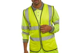 BSeen (Large) High Visibility Waistcoat (Saturn Yellow)