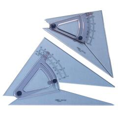 Linex (25cm) 0.5? Adjustable Scale Precision Set Square (Clear) Image