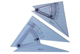 Linex (25cm) 0.5? Adjustable Scale Precision Set Square (Clear)