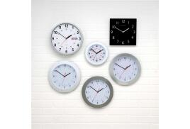 5 Star Facilities Wall Clock with Coloured Case Diameter 300mm (Dark Grey)