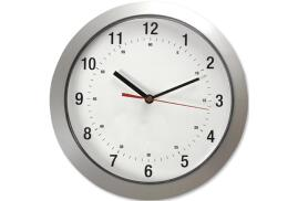 5 Star Facilities Wall Clock with Grey Case