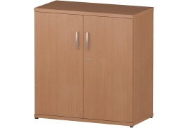 Trexus (800mm) Office Cupboard 1 Shelf (Beech)