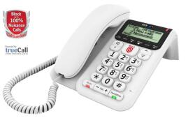 BT Decor 2600 Corded Telephone Answering Machine Call-Blocker Handsfree (White)
