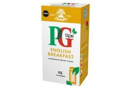 PG Tips Tea Bags English Breakfast Enveloped (Pack of 25 Tea Bags]