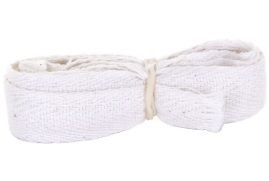 Click Workwear (12mm x 2m) Cotton Apron Ties (White)