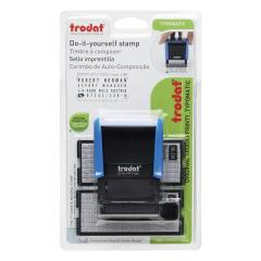 Trodat Printy 4912 Typo D-I-Y Stamp Kits Ink Tweezers and Lettering 3mm 4mm 4 Line Image