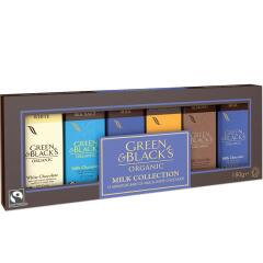Green and Blacks Organic Milk/White Chocolate Miniatures Collection 15g Bars (Pack of 12) Image