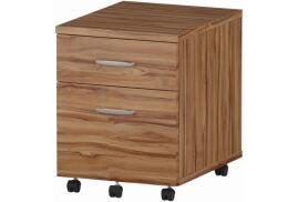 Trexus (430mm) Mobile Pedestal (Walnut) with 2 Drawers