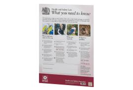 Stewart Superior Health and Safety Law HSE Statutory Poster (A2) PVC W420xH595