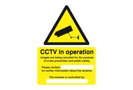 Stewart Superior WO143SAV Self-Adhesive Vinyl Sign (150x200mm) - Warning CCTV Cameras In Constant Operation