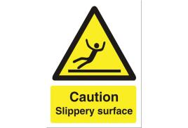 Stewart Superior WO134SAV Self-Adhesive Vinyl Sign (150x200mm) - Caution Slippery Surface