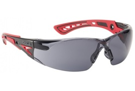 Bolle Safety Bolle Rush+ RUSHPPSF Safety Glasses (Smoke) with Platinum Coating