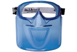 Bolle Safety Bolle Atom ATOV Face Mask (Blue) for Atom Safety Goggles