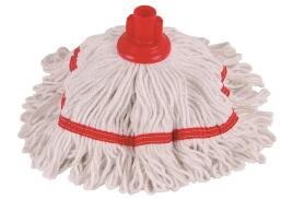 Robert Scott and Sons Robert Scott Hygiemix T1 (250g) Socket Mop Head Cotton and Synthetic Yarn Colour-coded (Red)