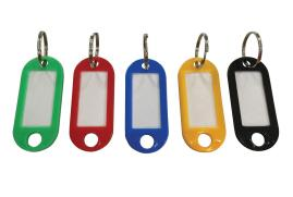 5 Star Facilities Key Hanger Fob Label 50 x 22mm Assorted [Pack of 20]