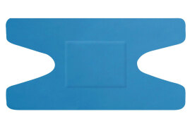 Click Medical Hygioplast Detectable Knuckle Plasters (Blue) Pack of 50