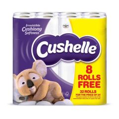 Cushelle White Toilet Roll 2 Ply 180 Sheets Per Roll (Pack of 32 Rolls) Image