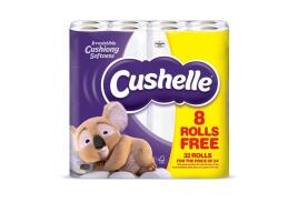 Cushelle White Toilet Roll 2 Ply 180 Sheets Per Roll (Pack of 32 Rolls)