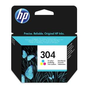 HP 304 (Yield: 100 Pages) Cyan/Magenta/Yellow Ink Cartridge